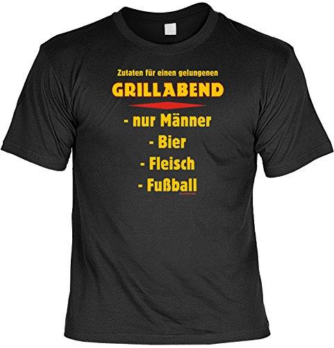 Divertido Sprüche Camiseta de ingredientes para una noche de barbacoa hornadas Negro, hombre mujer, negro, 44