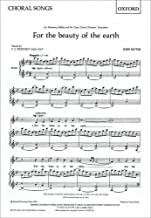 For the beauty of the earth: SA vocal score: SS (or SA) Vocal Score by John Rutter (Composer) (16-Oct-1980) Sheet music