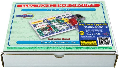 Snap Circuits UC40 Electronics Exploration Upgrade Kit | SC100 to SC500 | Upgrade Junior to Pro