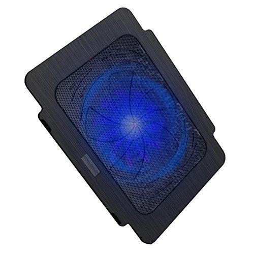 WANGYONGQI USB Super Ultra Dunne Ventilator Laptop Koeling Pad Notebook Radiator - zwart