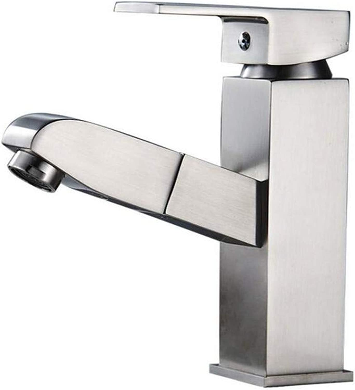 Modern Brass Chrome Hot and Cold Water Sink Taps Bathroom Taps Full Copper Drawing Wire Drawing Tap Water Tap