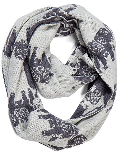 AOLOSHOW Winter Warm Thick Knit Reversible Elephant Infinity Scarf, Slate Grey