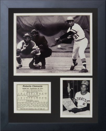 Legends Never Die 'Roberto Clemente 3000th Hit Framed Photo Collage, 11 x 14-Inch