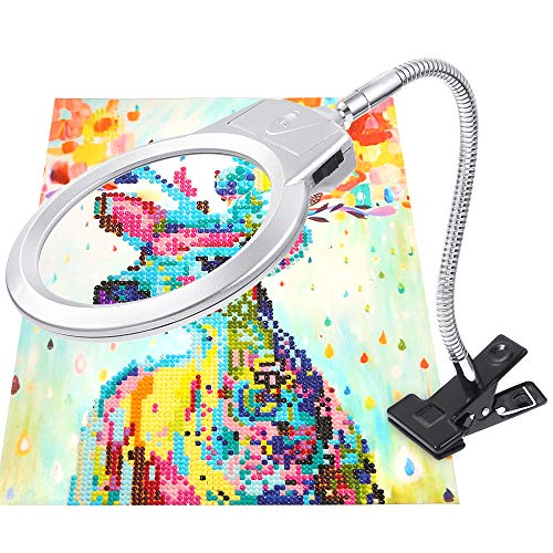 PP OPOUNT 5D Diamond Painting Tools LED Magnifier Light with...