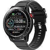 LTLJX Smartwatch Uomo Donna Bluetooth Orologio Fitness Tracker con Cardiofrequenzimetro da Polso, Orologio Sportivo 1.3'' Touch Calorie Smart Watch,Nero