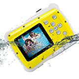 Kids Camera, Vmotal Underwater Action Camera Dust Proof Camcorder Waterproof Sports Camera HD Camcorder for Children Kids Toys with 2 Inch LCD Display (Yellow)