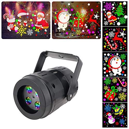 Luces de proyector de Navidad, lámpara de proyección interior giratoria de patrón súper brillante, decoración...