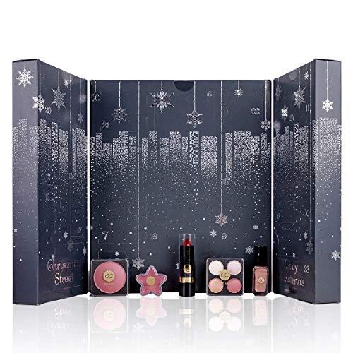 Adventskalender 2020 Beauty Kosmetik Make Up für Frauen | New York Weihnachtskalender mit Füllung für Damen Mädchen Teenager | Kalender mit Schminke Produkte | Make-Up