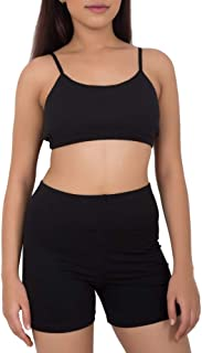 Adira Women's Cotton & Spandex Padded Beginners Bra (LDBR001COBLKXS_Black_X-Small)