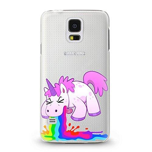 ITGM Hülle kompatibel mit Samsung Galaxy S5 Mini Schutzhülle Einhorn Cover Schutz Hülle Schale Case Motiv (Einhorn)