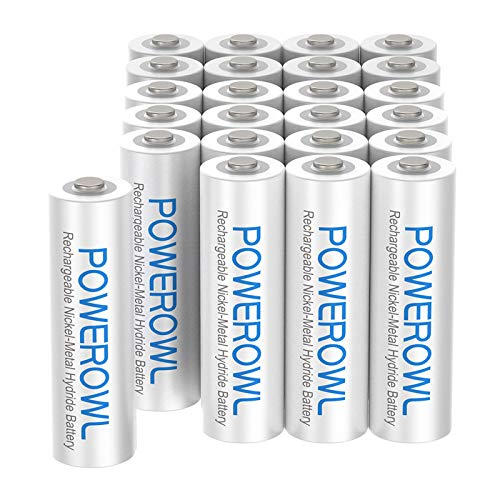AAA Rechargeable Batteries 24 Pack, POWEROWL High Capacity Rechargeable AAA Batteries 1000mAh 1.2V NiMH Low Self Discharge