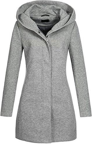 Vero Moda Vmverodona LS Jacket Noos Abrigo, Gris (Light Grey Melange Light Grey Melange), 44 (Talla del fabricante: X-Large) para Mujer