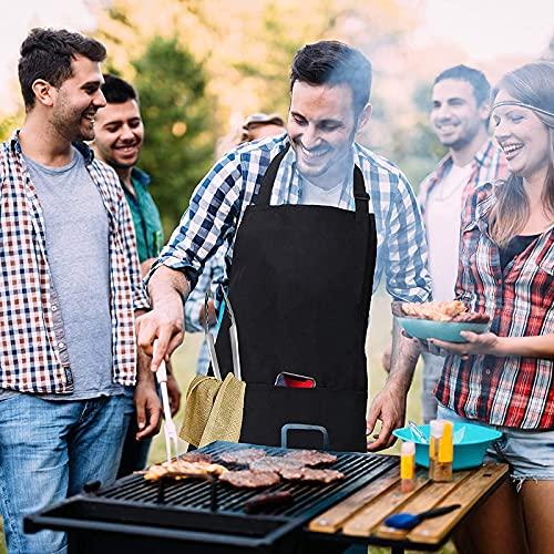519td5GxqTS. SL500  - ZIYEWAN Grillwerkzeugset Grillwerkzeugset für Grill im Freien, Grillzubehör-Werkzeugset mit austauschbarem Reinigungsbürstenkopf Professionelles Grillgerät für Camping-Gartengrill