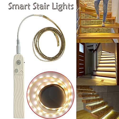 Gaddrt Treppenlichter Intelligente Treppenlichter schalten sich ein, wenn Sie auf sie gehen Nachtlicht Treppenlicht 100cm