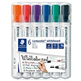 Staedtler TS-140383 351WP6 Bullet Tip Whiteboard Marker, Pack of 6