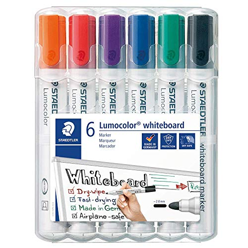 Best Price Square WHITEBOARD Markers, Wallet of 6 COLS 351WP