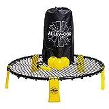 Roundnet Set, compuesto por 3 pelotas, red resistente, bomba para pelotas, bolsa de...