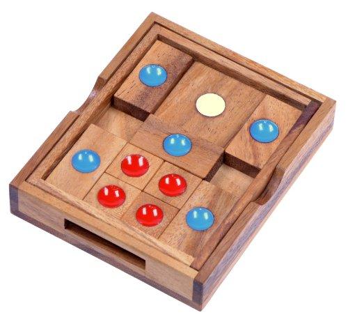 LOGOPLAY Khun Phan Gr. L - Schiebespiel - Denkspiel - Knobelspiel - Geduldspiel - Logikspiel aus Holz