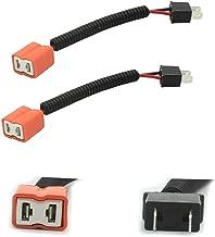 HALOYiVGO H7 Heavy Duty Ceramic Wiring Harness Sockets For Headlights or Fog Lights adapter (2PCS)