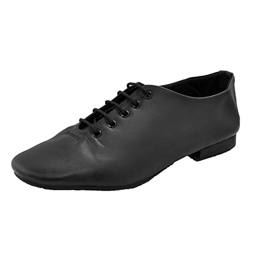 Childrens Girls// Boys proVora BLACK Leather Split Sole Dance Jazz Shoes