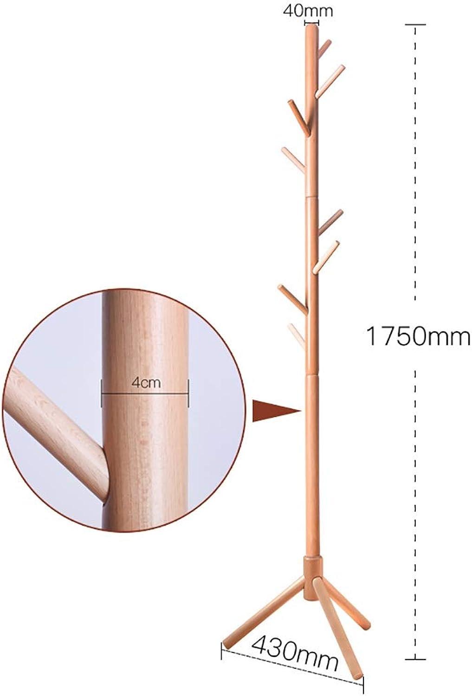 Coat Rack, Solid Wood Floor Coat Rack, Hall Tree, Multi-Scenario, Height 1750mm (color   E)