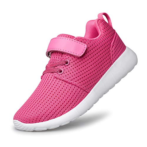 PDBQ Toddler/Little/Big Kids Shoes Boys Girls Sneakers Tennis Running Lightweight Breathable Shoes Pink