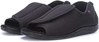 Cxypeng Zapato Unisex de Salud para Adultos,Zapatos de enfermería con Velcro de Mediana Edad y Ancianos, Zapatos de Tela A...