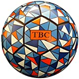 TBC Soccer Ball Size 5 Youth and Adult Indoor/Outdoor PU Leather Butyl Bladder Thermal Bonded Colorful Training Futbol Ball