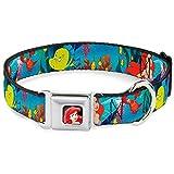 Buckle Down Dog Collar DYP-Ariel Close-UP Full Color - Ariel, Sebastian & Flounder Scene1 - Wide-Medium 16-23'