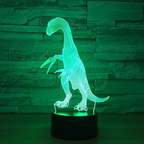Dinosaurus 3D illusie lamp LED nachtlampje met 7 kleuren wijzigen en afstandsbediening verjaardag en kerstcadeaus voor kinderen slaapkamer decoratieve tafellamp
