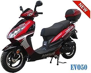50cc Bigger Size Gas Street Legal Scooter TaoTao EVO 50 - Black