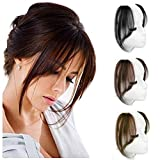 Layeder Remy Human Hair Bangs Straight Clip In Bangs Fake Fringe Long Front Side...
