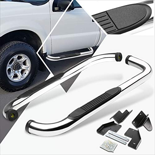 3 Inches Chrome Running Board Side Step Nerf Bar Compatible with Ford Superduty Standard/Reg Cab 99-16