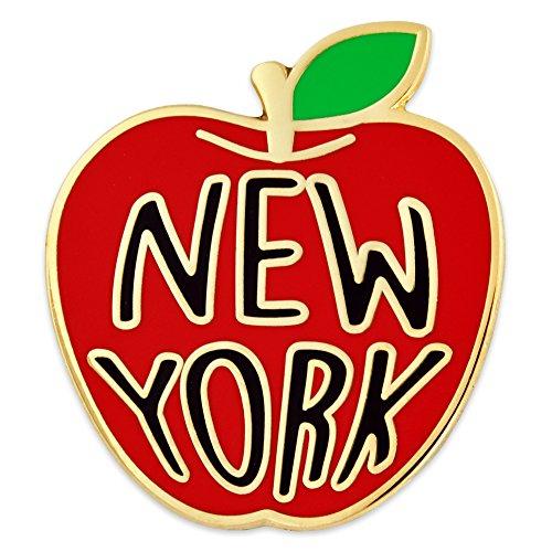 PinMart New York Big Apple Jewelry Souvenir Enamel Lapel Pin