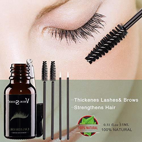 Sérum de croissance des cheveux - Huile essentielle - Améliore les cils - Prévient le vieillissement de la peau - Soin du corps - Noir naturel - Huile de ricin bio