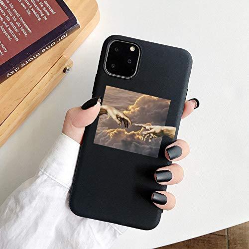 HNZZ Tmrtcgy para iPhone 11 Case Mona Lisa Art David Soft TPU Funda para teléfono para Apple iPhone 12 7 8 Plus XR XS 11PRO MAX Case (Color : 20, Size : IphoneXS MAX)