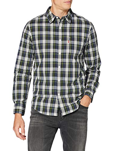 Levi's Classic 1 Pkt Standard Camicia, Abdullah Jet Black, M Uomo