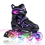 2PM SPORTS Brice Pattini in Linea Regolabili, Ruote Illumina LED, Divertente Inline...