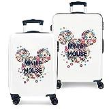 Disney Minnie Sunny Day Juego de maletas Azul 55/68 cms Rígida ABS Cierre combinación...