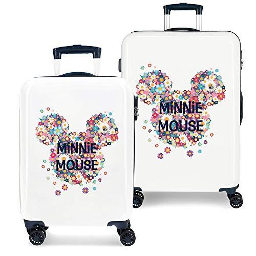 Disney Minnie Sunny Day Juego de maletas Azul 55/68 cms Rígida ABS Cierre combinación 104L 4 Ruedas dobles Equipaje de Mano