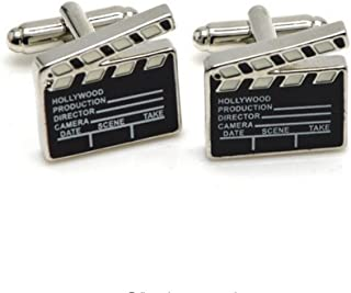 Movie Clapper Board Cufflinks Hollywood Christmas Gift for Movie Director Fans Film-makers Producer