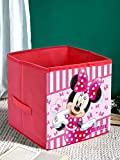Kuber Industries Disney Minnie Print Non Woven Fabric Foldable Large Size Storage Cube