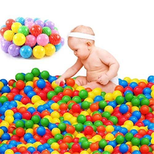 100pcs Play Balls Soft Plastic Non-Toxic Phthalate-Free Crush-Proof Pit Balls Baby Kids Toy Swim Pit Toys