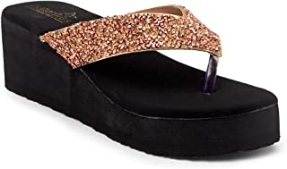 Butterflies Steps Latest Collection, Comfortable Wedges Sandal for Women's & Girl's(Rose Gold)(GHS-0083RGD)