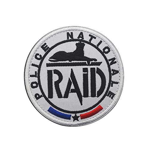 Parche de la bandera de Francia de la Policía Nacional Francesa, RAID, equipo táctico militar, bordado moral, insignia para camiseta, abrigo, chaqueta, gorra, mochila, insignia (Francia)