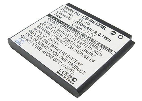 Ersatz-/ Erweiterungs- Akku für Nokia 8800, 8801, 8800 Sirocco