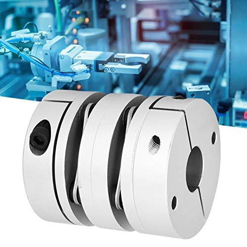Acoplador Manguito del eje, Conector de bobinado, Doble diafragma Acoplamiento de torsión Acoplador de eje Accesorios de motor paso a paso CNC GL ‑ 68x75‑22x22