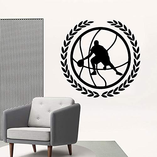 Simple baloncesto extraíble arte pegatinas de pared pegatinas para niños pegatinas de pared a prueba de agua calcomanías de arte pegatinas de pared A8 43x44cm