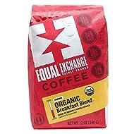 Equal Exchange Organic Ground Coffee, Breakfast Blend, 12-Ounce Bag