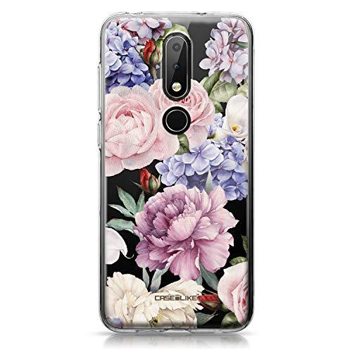 CASEiLIKE Nokia 6.1 Plus Hülle, Nokia 6.1 Plus TPU Schutzhülle Tasche Hülle Cover, Gemischte Rosen 2280, Kratzfest Weich Flexibel Silikon für Nokia 6.1 Plus